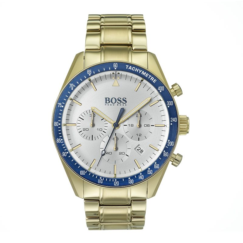 BOSS Men's Yellow Gold Plated Trophy Sport Watch - Product number 9301240