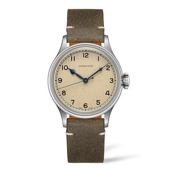 Longines Heritage Men's Brown Leather Strap Watch - Product number 9301526
