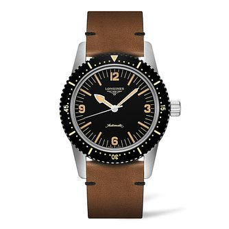 Longines Heritage Men's Brown Leather Strap Watch - Product number 9301542
