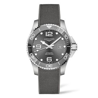 Longines Hydroconquest Men's Grey Rubber Strap Watch - Product number 9301739