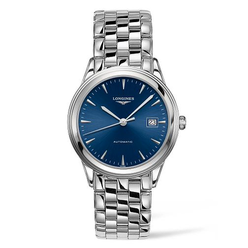 Longines Men's Stainless Steel Flagship Blue Dial Watch - Product number 9302115