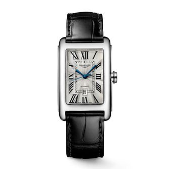 Longines Dolce Vita Men's Black Leather Strap Watch - Product number 9302123