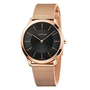 Calvin Klein Men's Rose Gold Tone Mesh Strap Watch - Product number 9302212