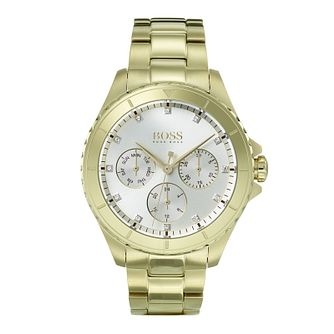 Hugo Boss Ladies' Premiere Yellow Gold Plated Watch - Product number 9302239