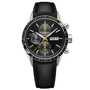 Raymond Weil Freelancer Men's Black Leather Strap Watch - Product number 9302379