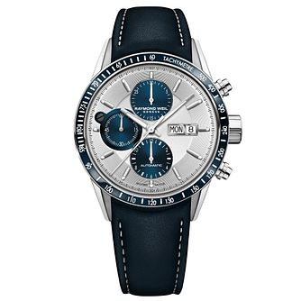 Raymond Weil Freelancer Men's Blue Leather Strap Watch - Product number 9302395