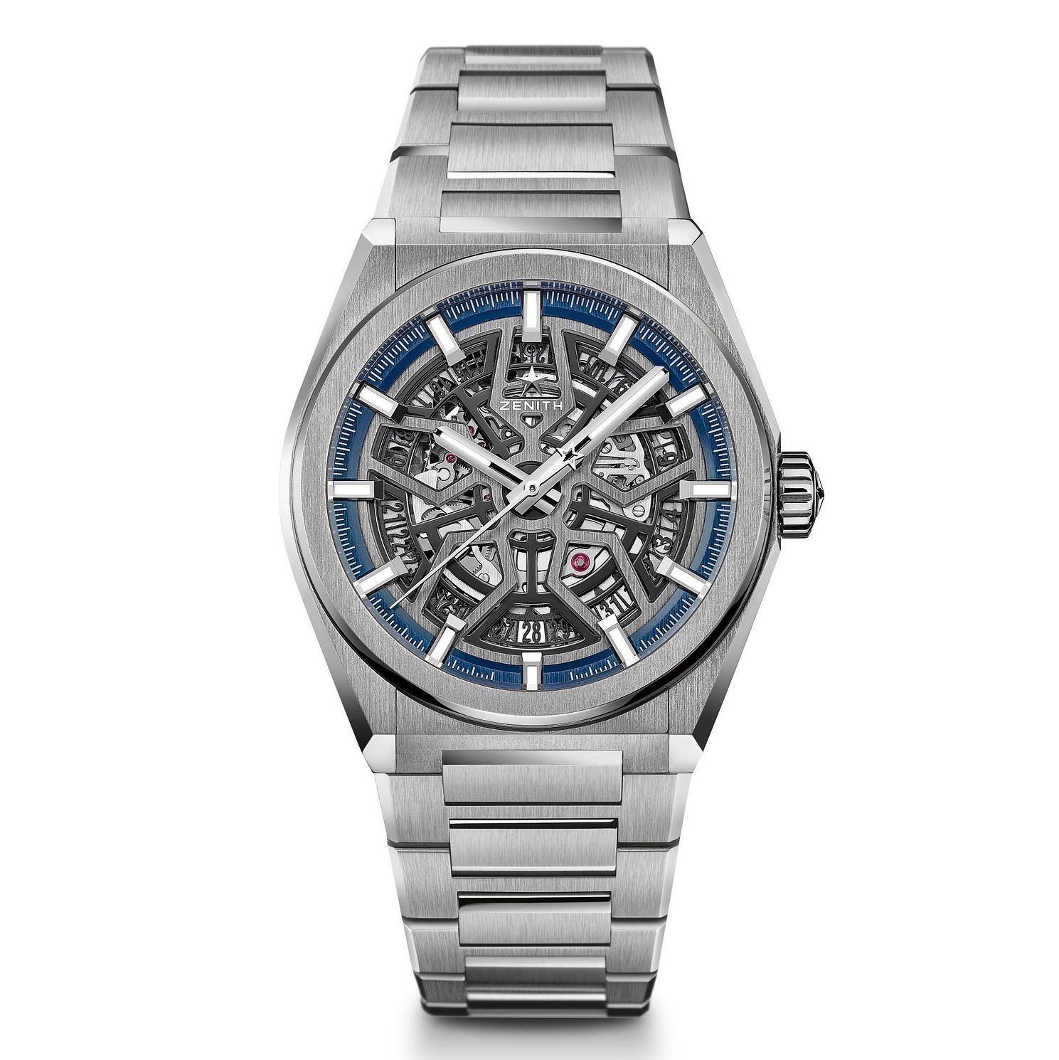 Zenith Deny Men's Skeleton Stainless Steel Bracelet Watch - Product number 9303529