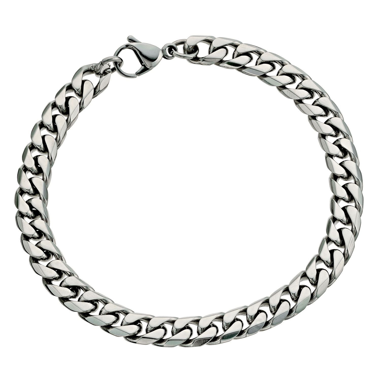 "Stainless Steel 8.5"" Curb Bracelet - Product number 9304142"