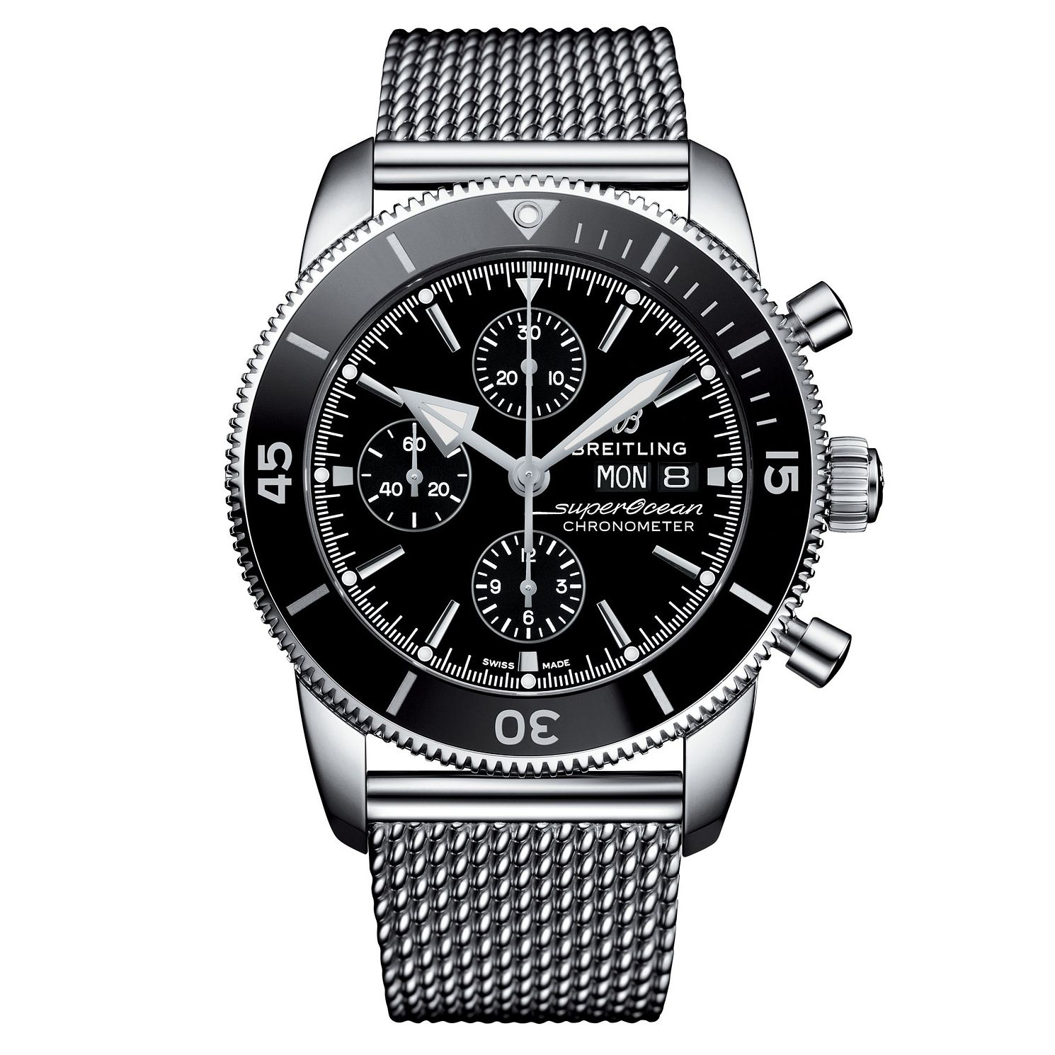 Breitling Superocean Heritage II Men's Steel Bracelet Watch - Product number 9304193