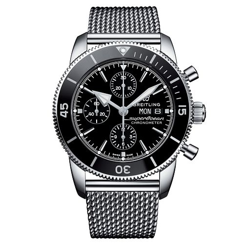 Breitling Stainless Steel Superocean Black Bracelet Watch - Product number 9304193
