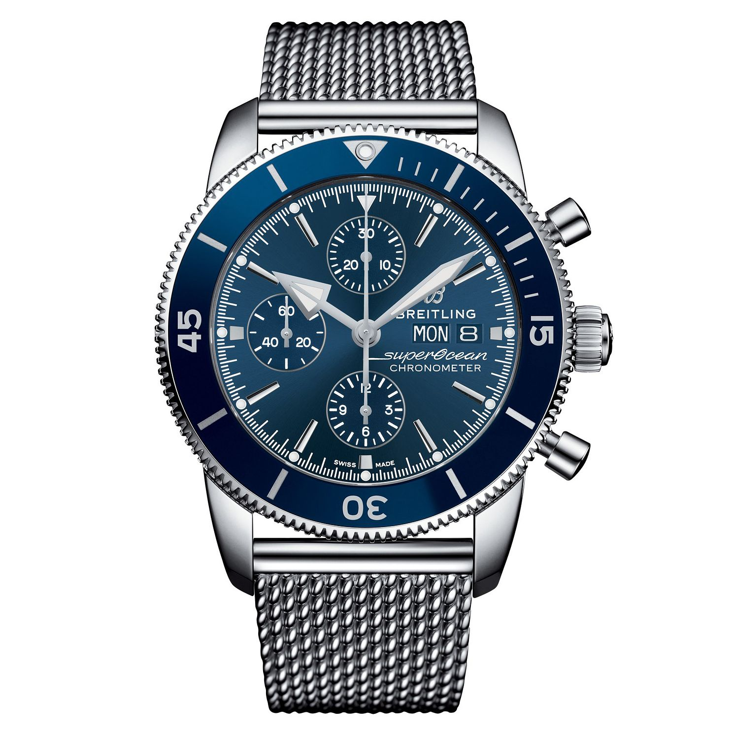 Breitling Superocean Heritage II Men's Steel Bracelet Watch - Product number 9304207