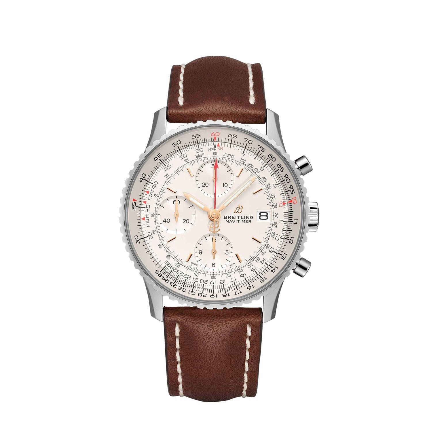 Breitling Navitimer 1 Men's Brown  Leather Strap Watch - Product number 9304266