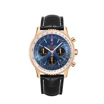 Breitling Navitimer 1 Men's Chronograph Black Strap Watch - Product number 9304509