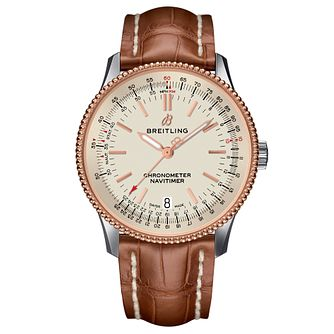 Breitling Navitimer 1 38mm Brown Leather Strap Watch - Product number 9305246