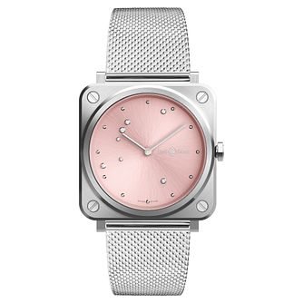 Bell & Ross Brs Ladies' Stainless Steel Mesh Bracelet Watch - Product number 9306153