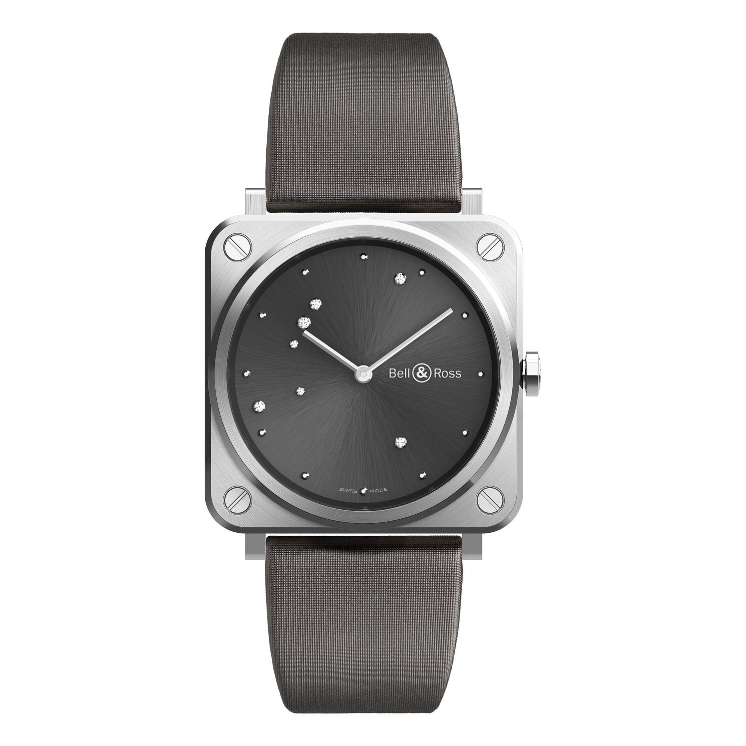Bell & Ross Stainless Steel Grey Strap Watch - Product number 9306293