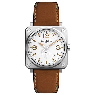 Bell & Ross BR-S Brown Leather Strap Watch - Product number 9306315