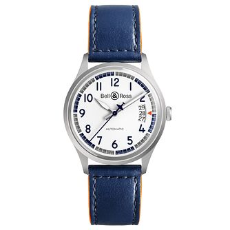Bell & Ross Limited Edition Blue Leather Strap Watch - Product number 9306358