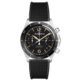 Bell & Ross Vintage BR Black Rubber Strap Watch - Product number 9306404