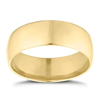 9ct Yellow Gold 7mm Extra Heavyweight D Shape Ring - Product number 9311203
