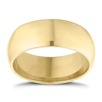 9ct Yellow Gold 8mm Extra Heavyweight D Shape Ring - Product number 9311505