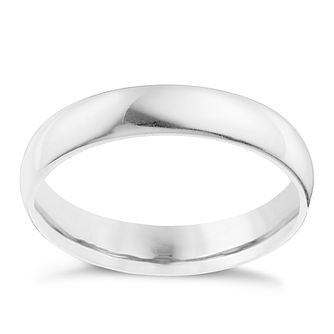 Palladium 950 4mm Extra Heavyweight D Shape Ring - Product number 9313702