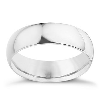 Platinum 8mm extra heavyweight D Shape ring - Product number 9315187