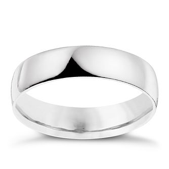 Palladium 950 5mm extra heavy D-shape ring - Product number 9315497