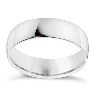Palladium 950 6mm Extra Heavyweight D Shape Ring - Product number 9315799