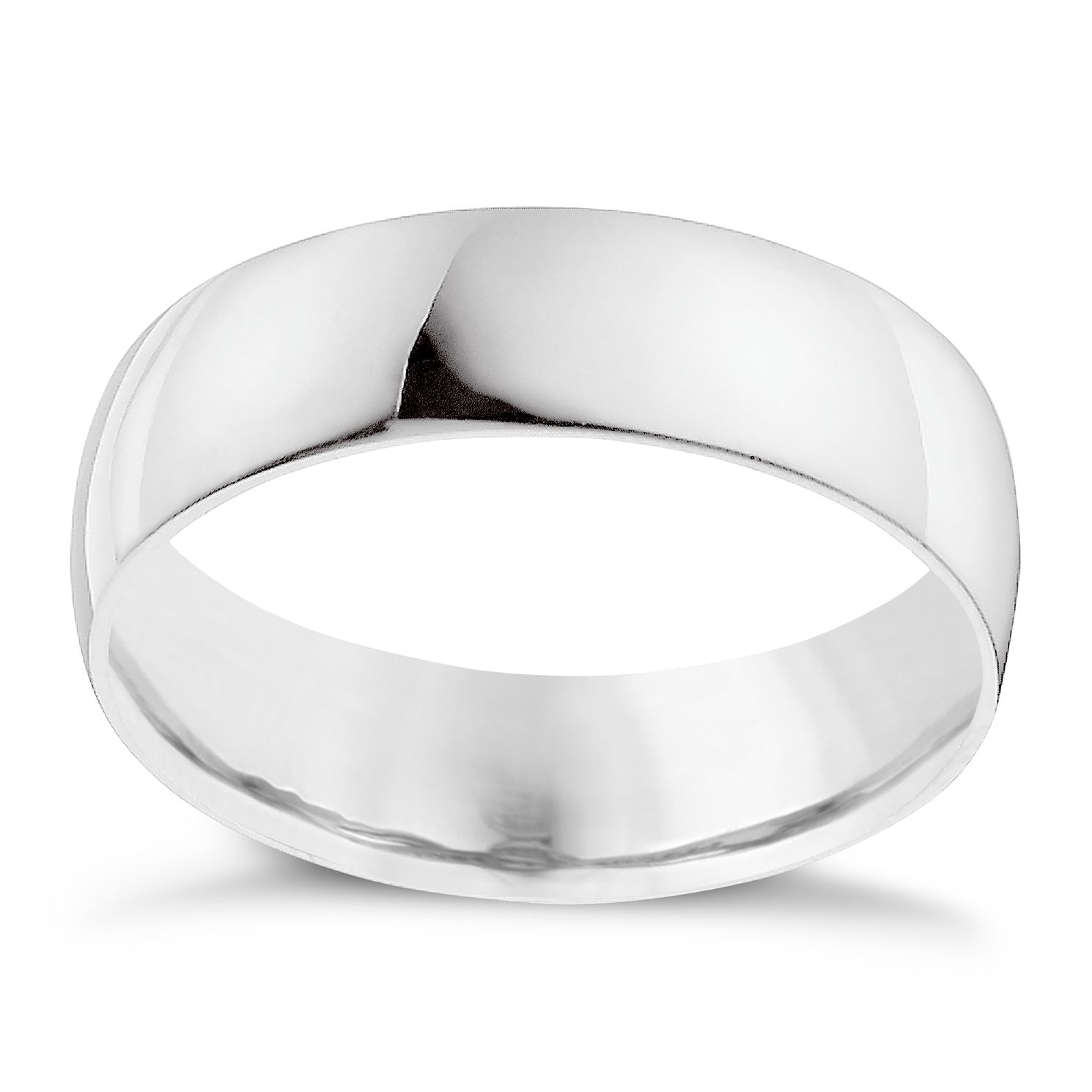 Palladium 950 7mm Extra Heavyweight D Shape Ring - Product number 9316108