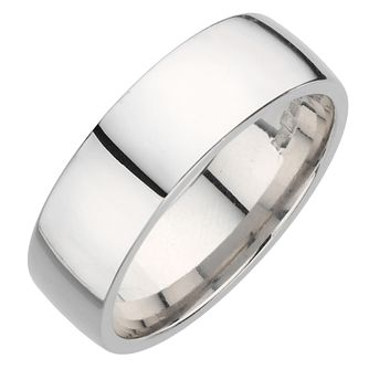 Palladium 950 8mm extra heavy court ring - Product number 9316728