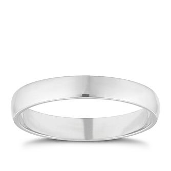 Palladium 950 3mm Extra Heavyweight D Shape Ring - Product number 9317023