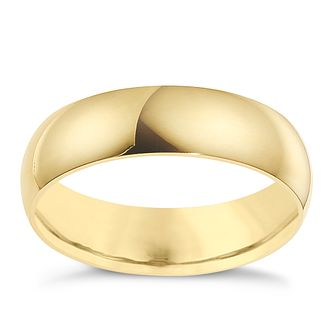 18ct Yellow Gold 8mm Extra Heavyweight D Shape Ring - Product number 9317287