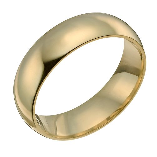 18ct yellow gold 7mm super heavyweight court ring - Product number 9317597