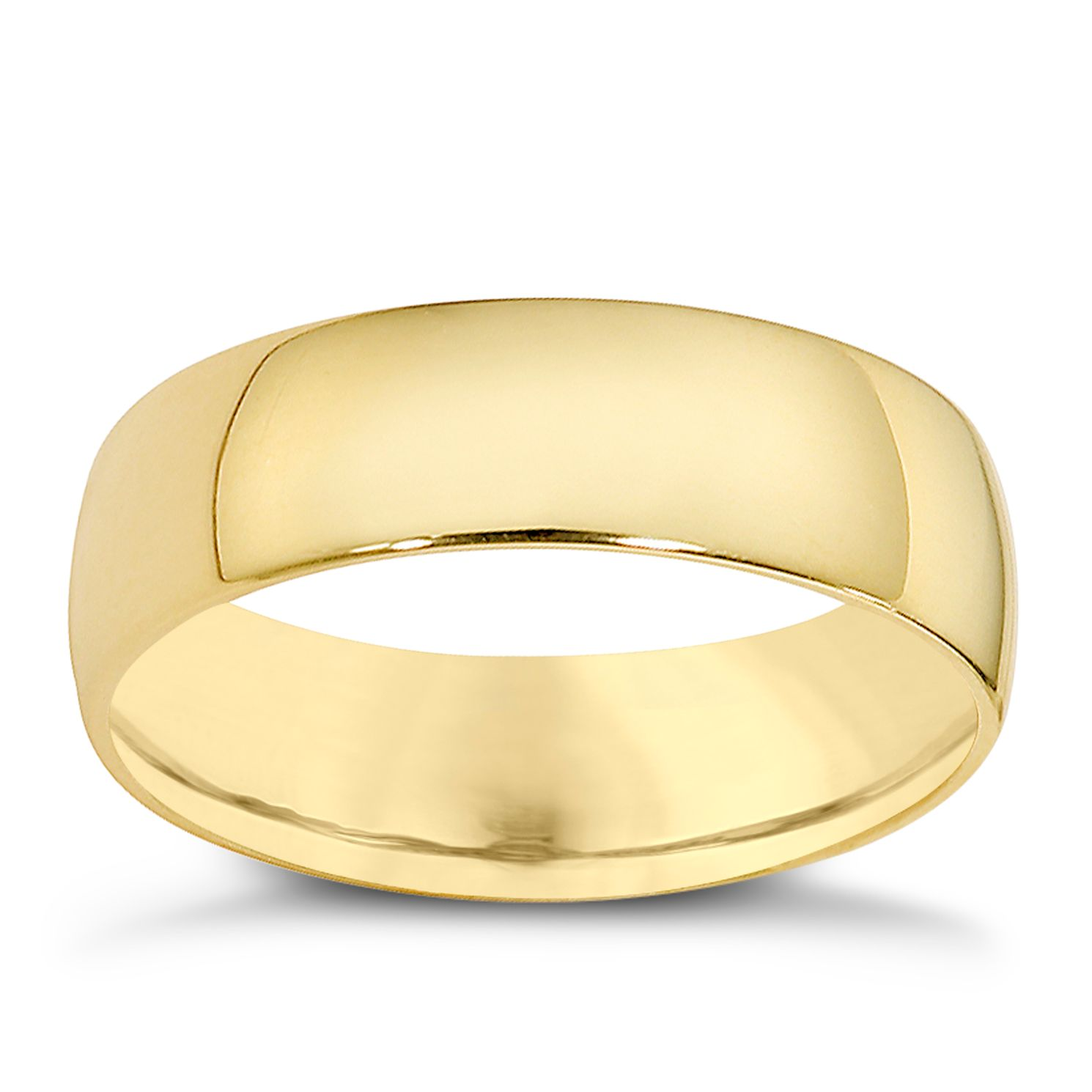 18ct Yellow Gold 7mm Extra Heavyweight Court Ring - Product number 9317910