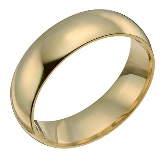 18ct Yellow Gold 8mm Super Heavyweight Court Ring - Product number 9318224