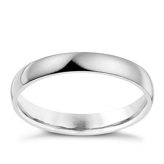 Palladium 950 2mm Extra Heavyweight D Shape Ring - Product number 9318542