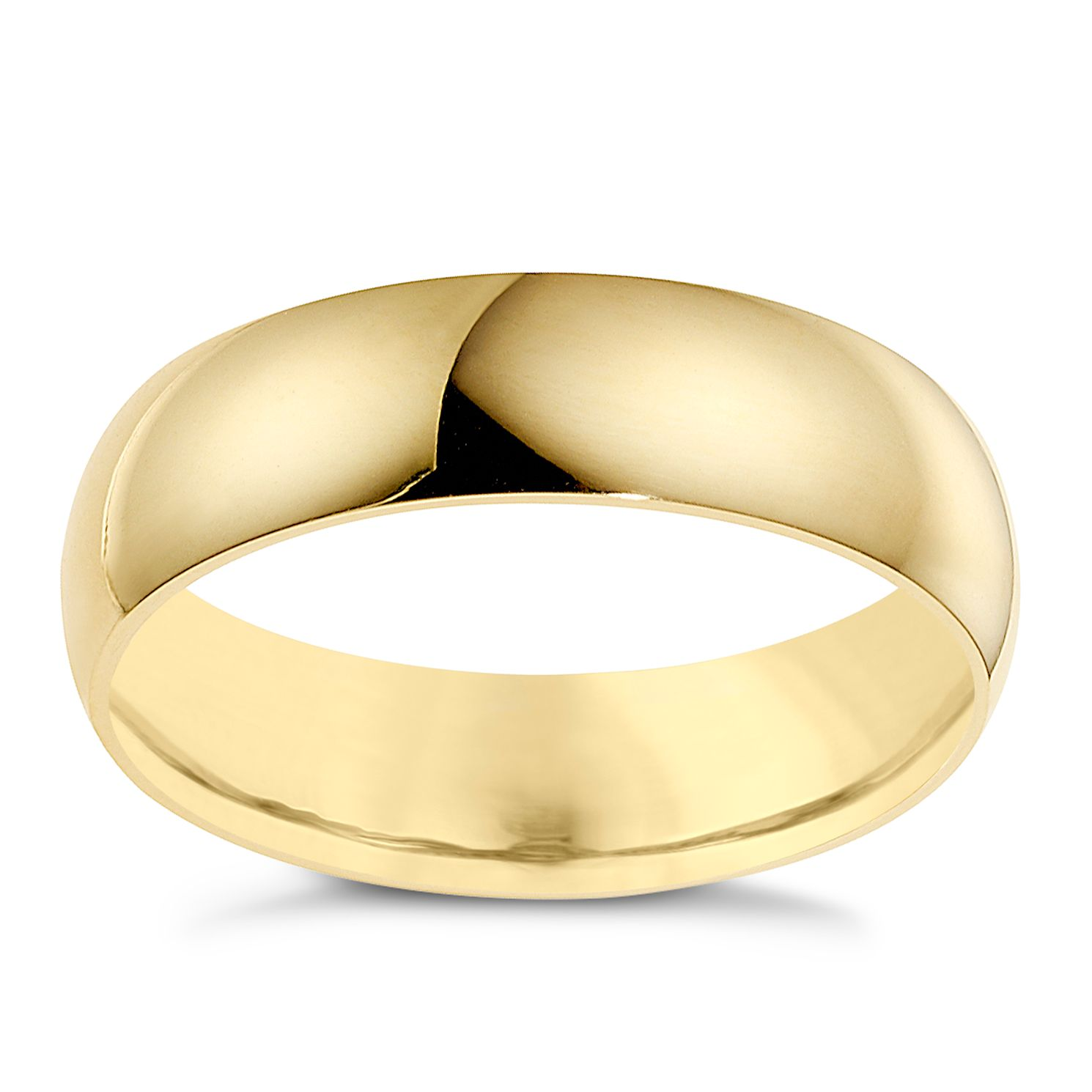 18ct Yellow Gold 7mm Extra Heavyweight D Shape Ring - Product number 9319034