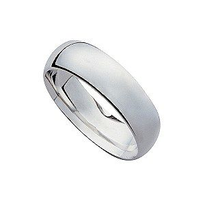 18ct White Gold 7mm Super Heavyweight Court Ring - Product number 9319344