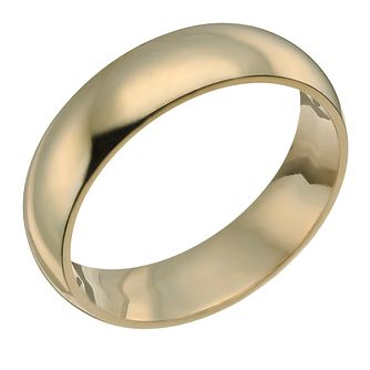 9ct Yellow Gold 7mm Super Heavyweight Court Ring - Product number 9320245