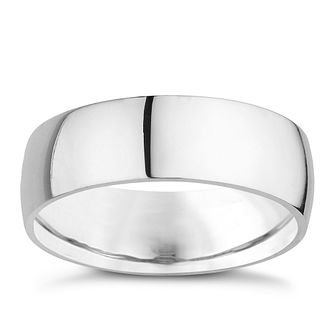 18ct White Gold 8mm Extra Heavyweight Court Ring - Product number 9320555