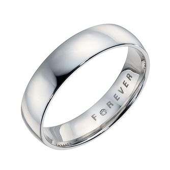 The Forever Diamond Palladium 5mm Wedding Ring - Product number 9323961