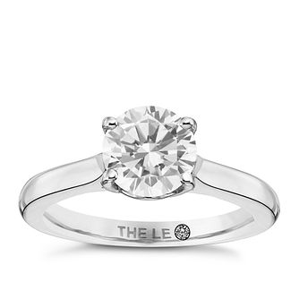 Leo Diamond Platinum 1.25ct I-Si2 Solitaire Ring - Product number 9326022