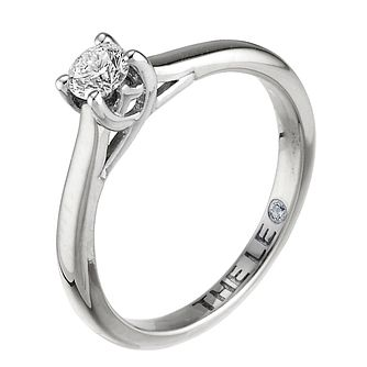 Leo Diamond 18ct White Gold 1/4ct I-Si2 Solitaire Ring - Product number 9326162