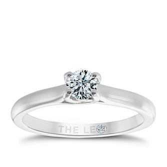 Leo Diamond 18ct white gold 1/3ct I-SI2 solitaire ring - Product number 9326294
