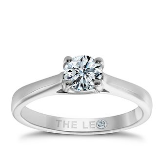 Leo Diamond 18ct White Gold 1/2ct I-Si2 Solitaire Ring - Product number 9326413