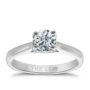 Leo Diamond 18ct white gold 2/3ct I-SI2 solitaire ring - Product number 9326545