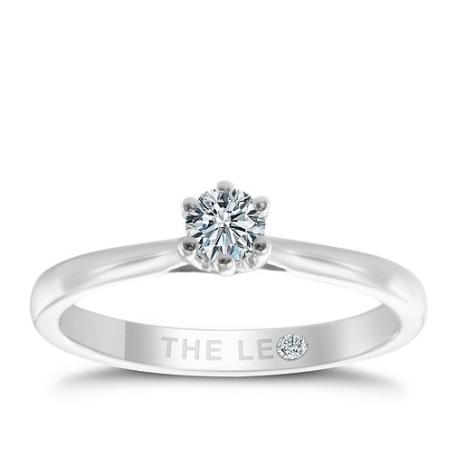 Leo Diamond 18ct white gold 1/4ct I-I1 solitaire ring - Product number 9327347