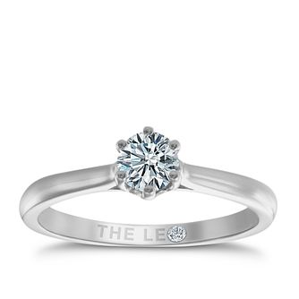 Leo Diamond 18ct White Gold 1/3ct I-I1 Solitaire Ring - Product number 9327487