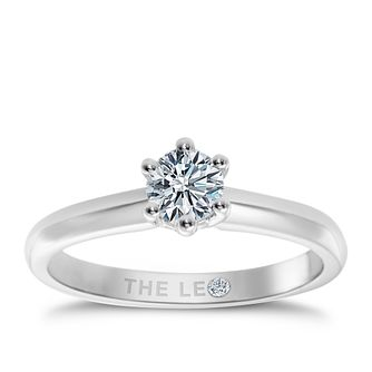 Leo Diamond 18ct white gold 2/5ct I-I1 solitaire ring - Product number 9327614